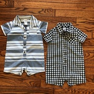 Carter's Two One-Piece Boy's Outfits, Size 12M